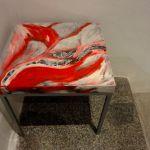 Tavolino; foto e acrilico su tavolino riciclato; 2012
