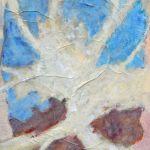 Amore e Libertà; acrilico su sacco del pane; 100x70cm; 2014