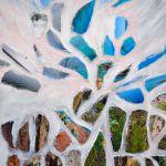 Evanescenza; foto collage su tela riciclata; 80x60cm; 2014