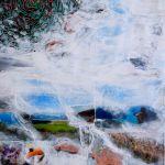 L'anima vola; foto collage e acrilico su scatola; 48x36cm; 2013