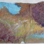 448KM de Colores; acrilico su sacco del pane; 50x70cm; 2014