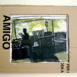 Il casolare; acrilico su foto e cartone; 2008